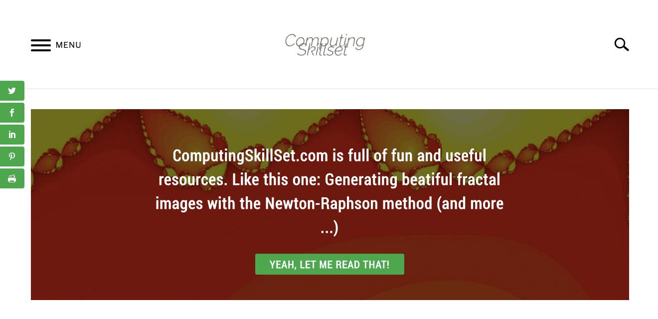 Go to computingskillset.com
